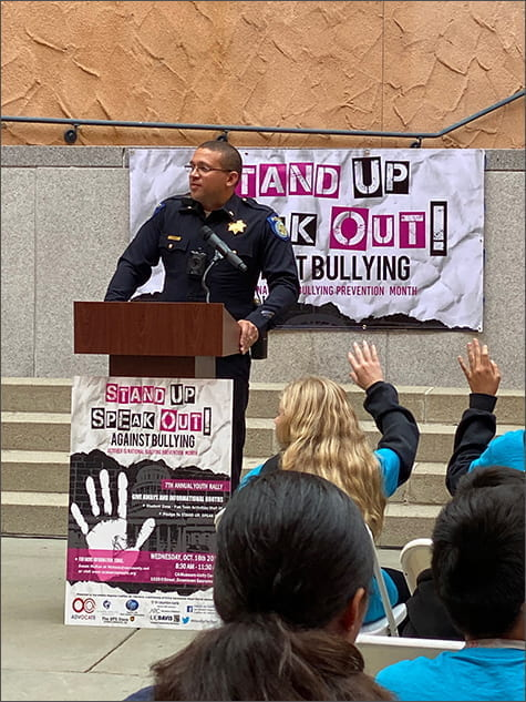 Stand Up Speak Out Against Bullying Event - Lieutenant Stephen Moore, Sacramento Police Department