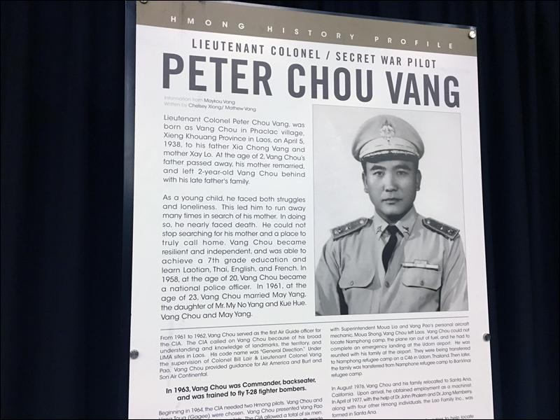 Hmongstory 40 display for Peter Vang