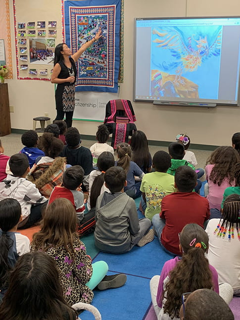 See Lor presenting The Forbidden Treasure to Elementary students