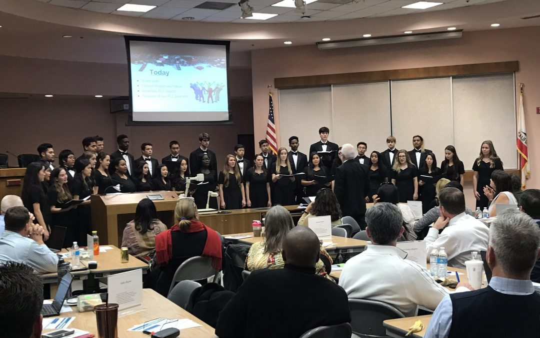 3 Sheldon High School students perform with the California Central Region Honor Choir