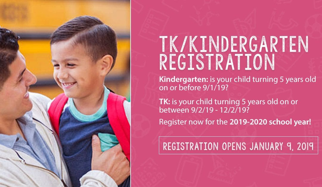 School Readiness Key for A Child's Academic Success that Starts with Registering for Transitional Kindergarten or Kindergarten