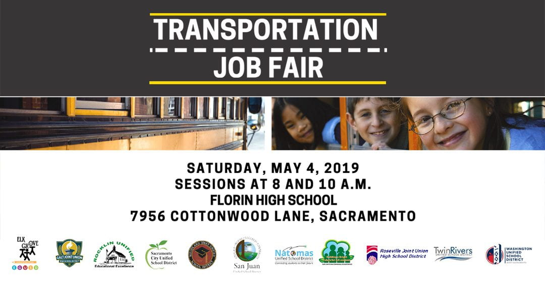 District Event – May 4: Sacramento Area School Districts Revved About Partnering to Offer a Regional School Bus Driver Transportation Job Fair