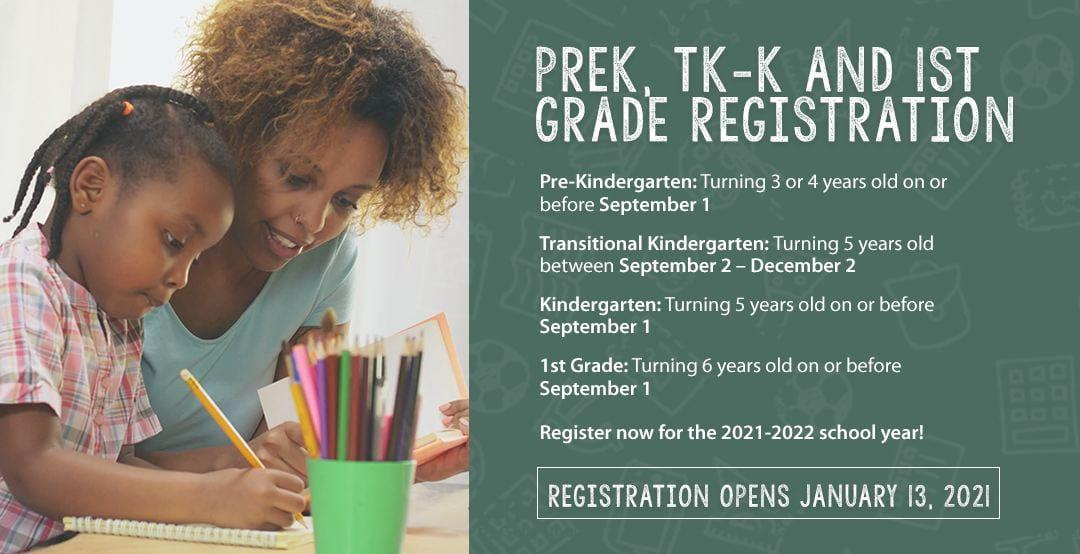 Elk Grove Unified Welcomes Registration of New Preschool, Transitional Kindergarten, Kindergarten and First Grade Students