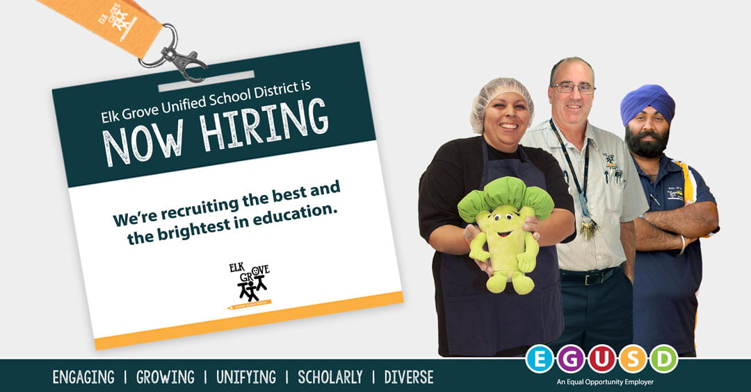 Elk Grove Unified to Host First Outdoor Job Fair in More Than a Year to Fill Over 300 Classified Positions