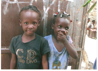Haitian children remain hopeful.