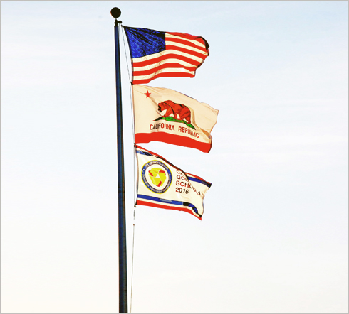 Raymond Case Elementary School Flags
