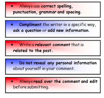 Use these as a guide to posting good comments.