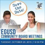 EGUSD Community Board Meetings