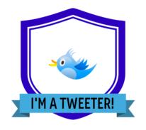 Tweeter digital badge
