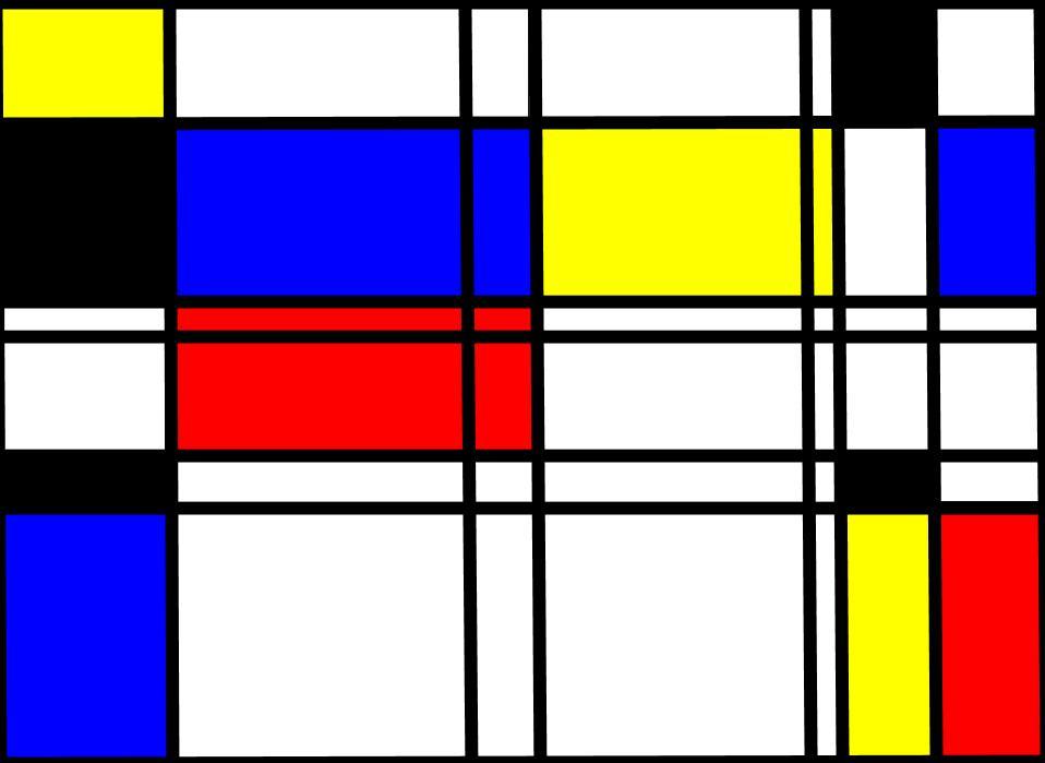 Mondrian style art image