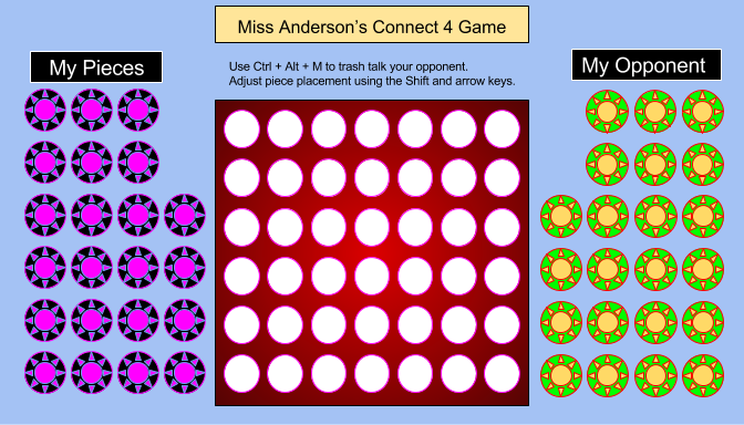 connect 4 game in slides