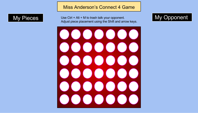 Connect 4 gameboard
