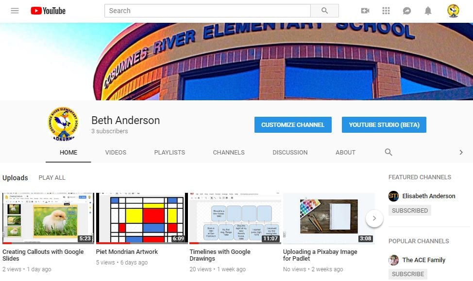 My YouTube Channel pic