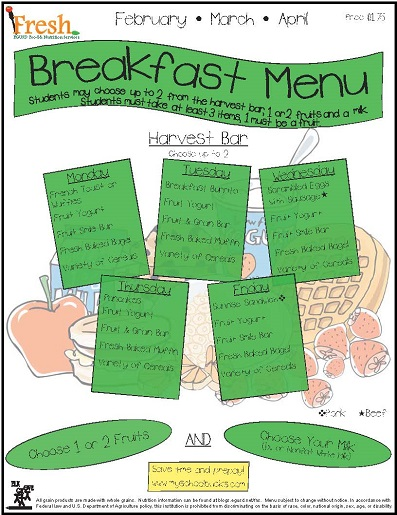 Elementary School Menus : Food & Nutrition Services