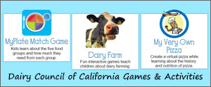 Dairy Council of California Games