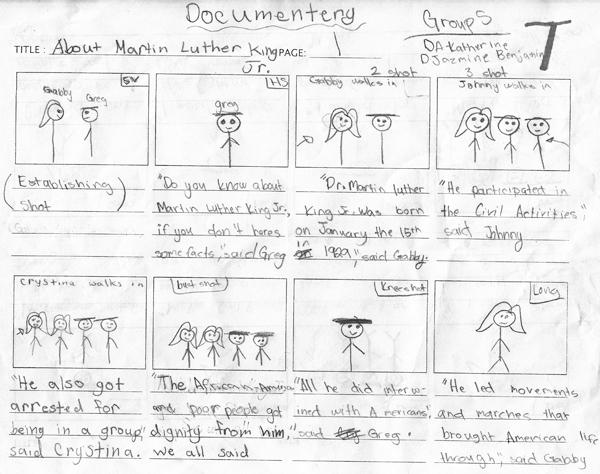 StoryboardMovie Group S Mlk Project  Eett  Making Movies