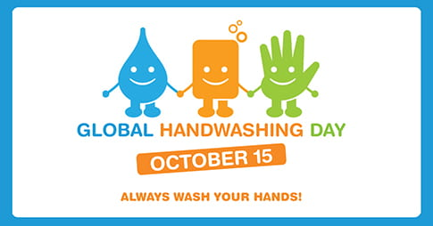 graphic for Global Handwashing Day October 15