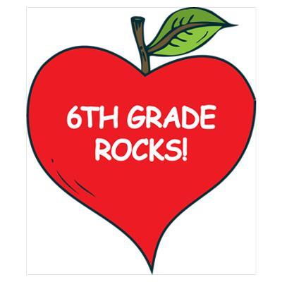6th Grade Stickers | Zazzle |Sixth Grade Rocks
