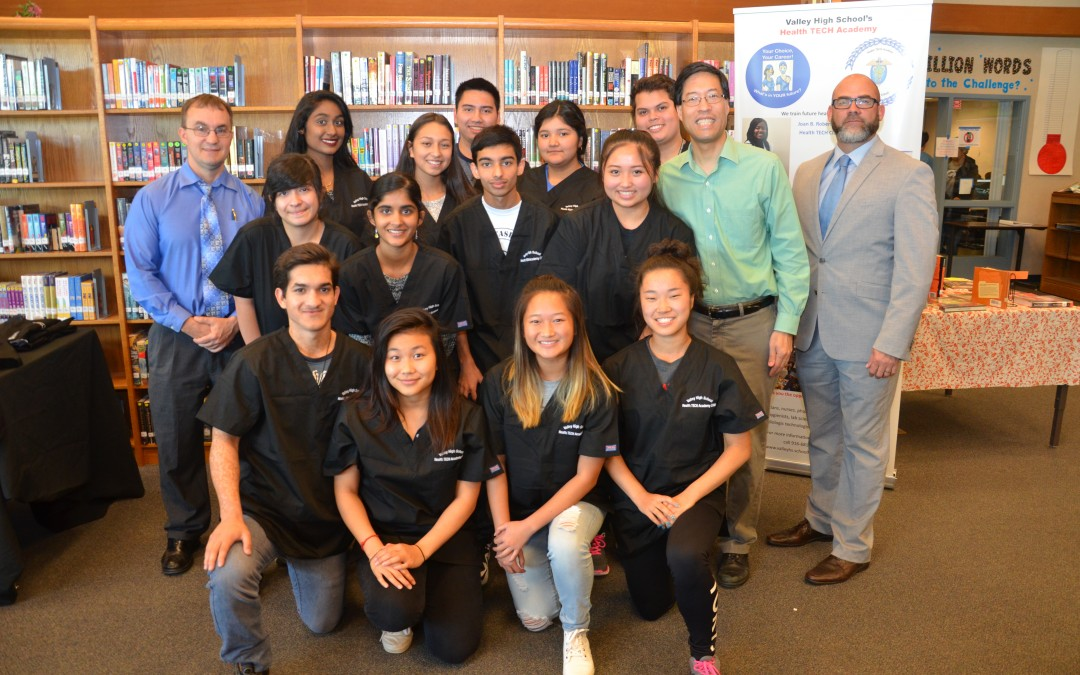 Valley's Health-TECH Academy Students Receive Coveted Black Scrubs