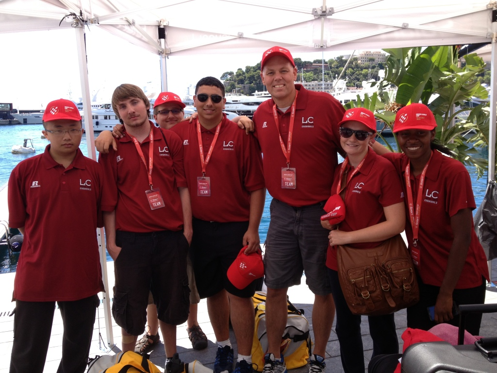 GETA students competing in the Solar 1 World Cup Championships in Monaco (summer 2014)
