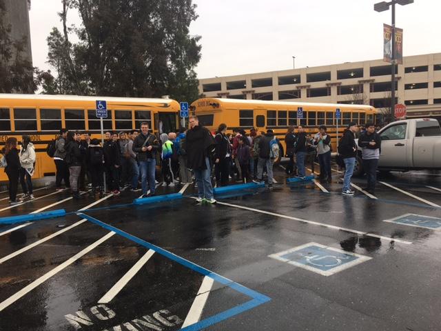 EGUSD students arrive at Sacramento City College
