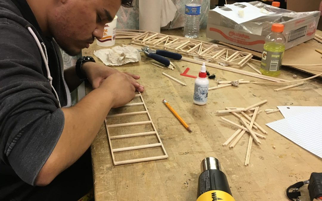 From Design to Construction, Building Trade Students Take Top Honors at Bridge Building Competition