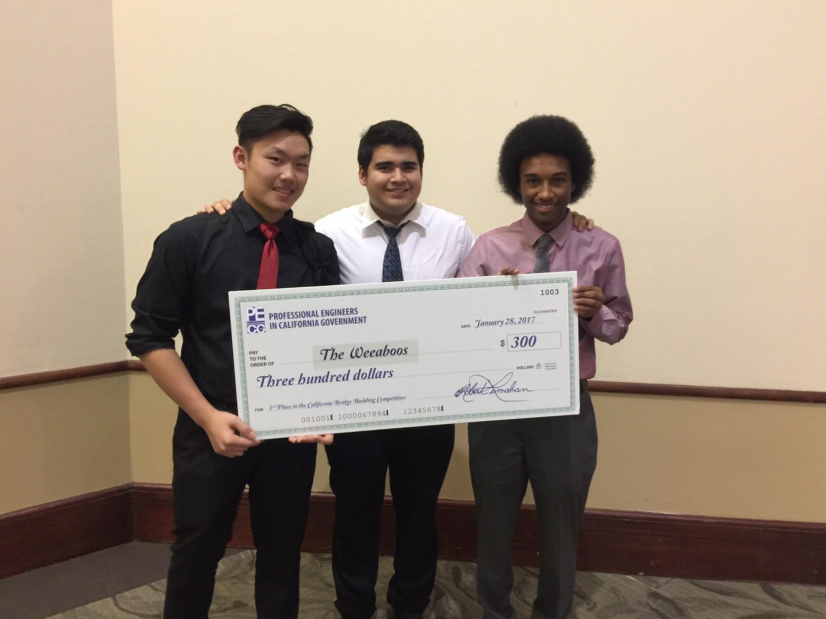 Third Place - Samson Nguyen, James Chairez, Osiris Brown