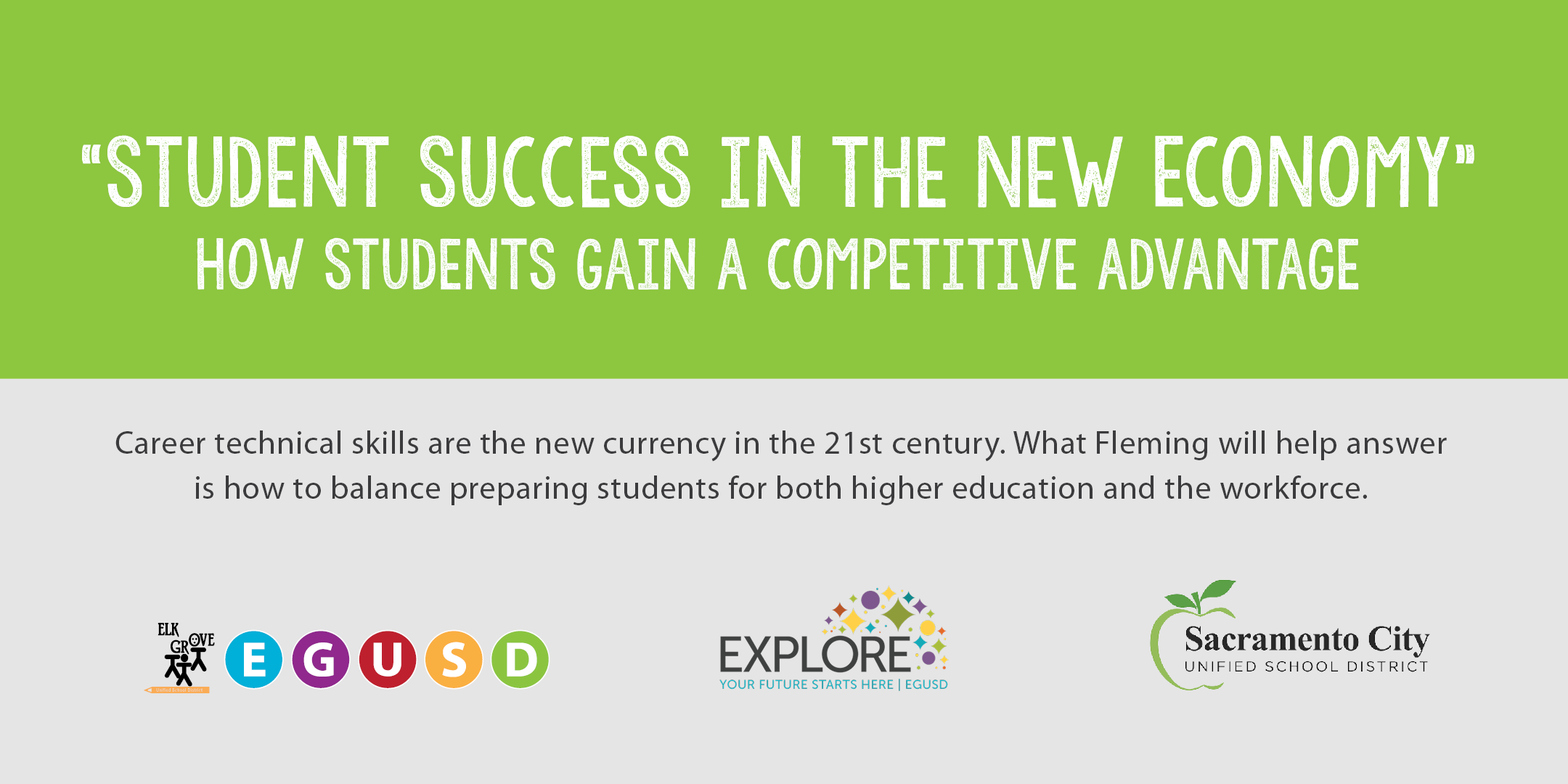 "Register Now: ""Student Success in the New Economy:"" How"