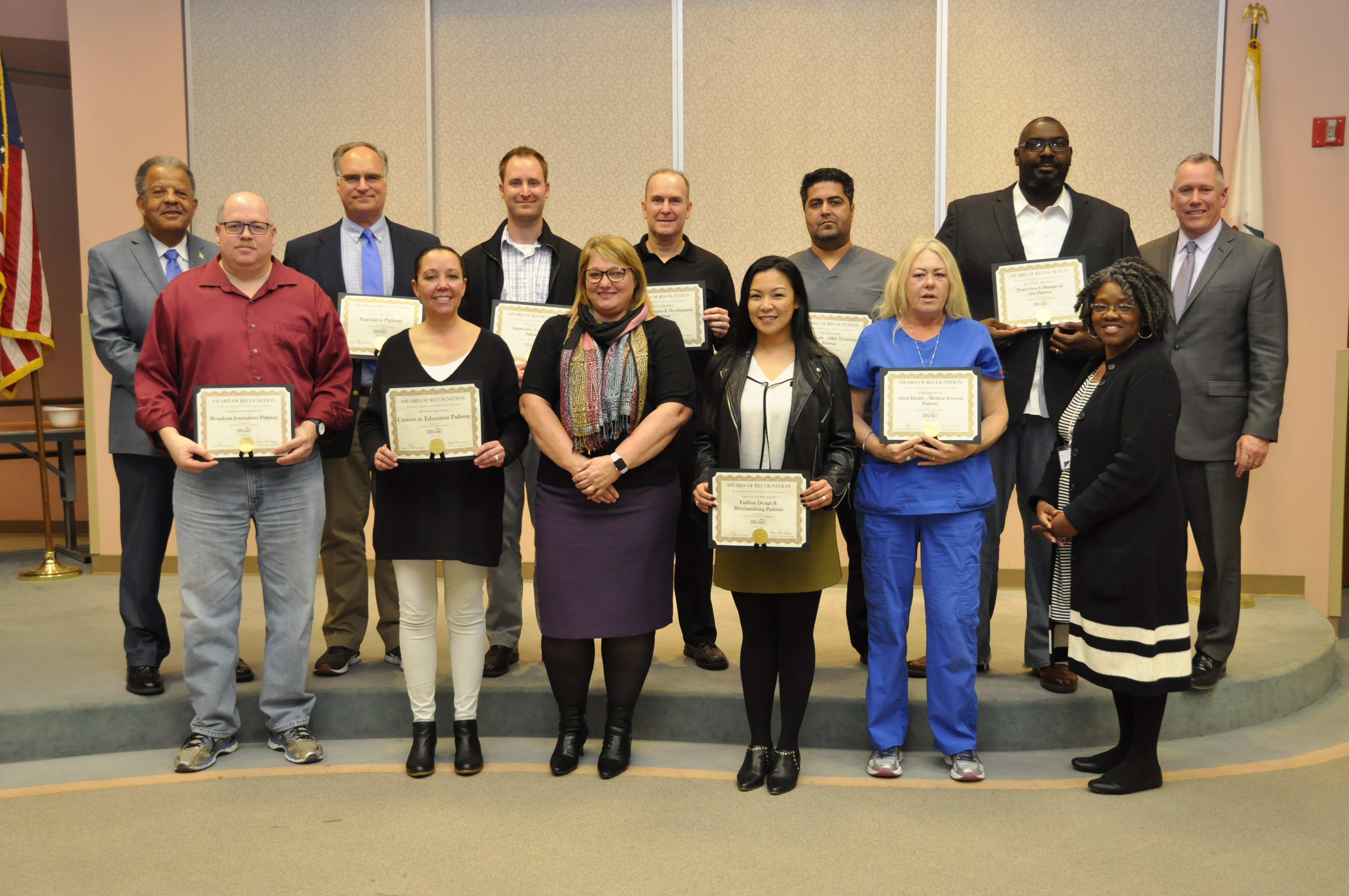 EGUSD Board Recognizes its High Quality CTE Programs