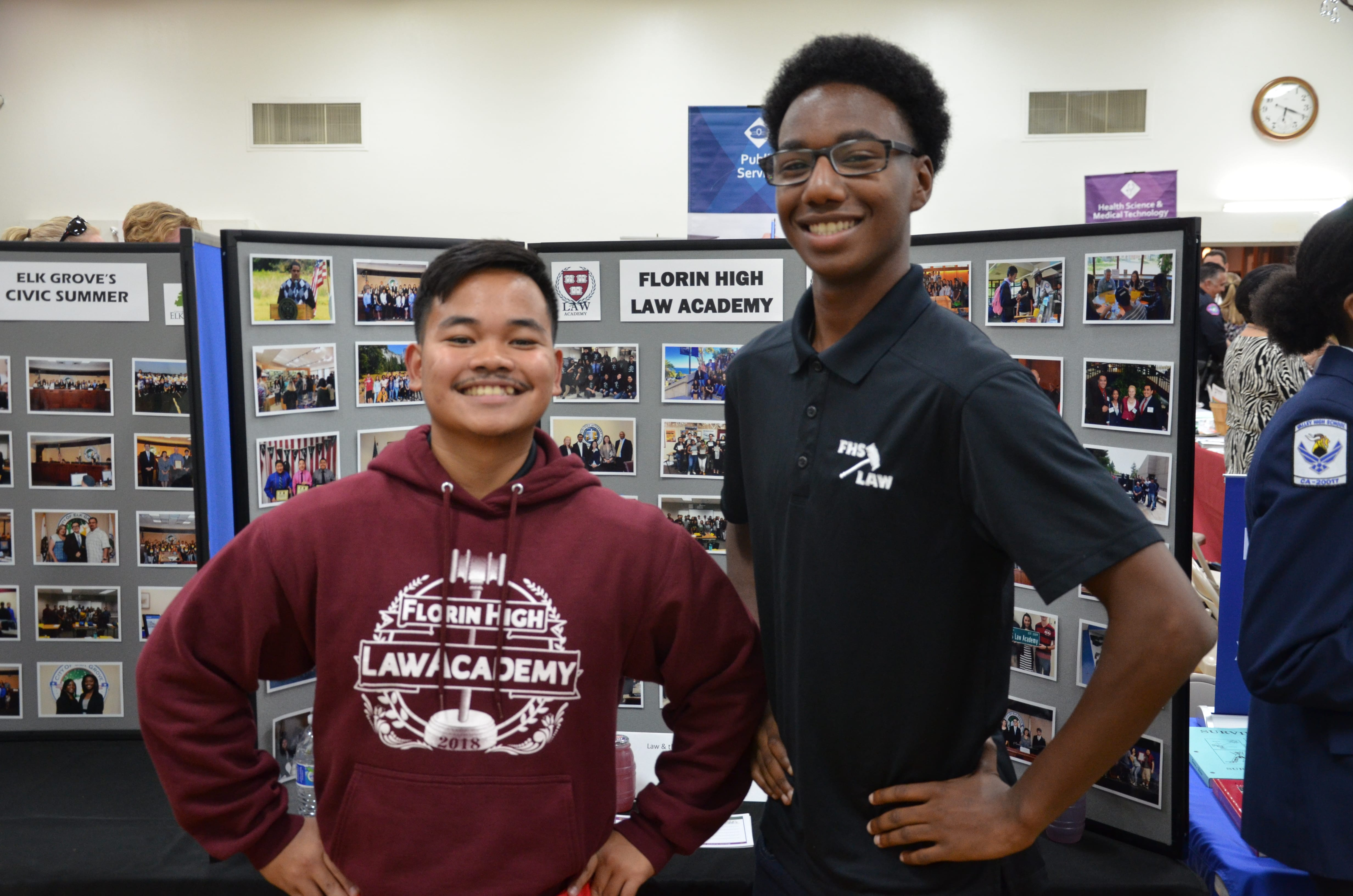 Current L.A.W. Academy students strike a pose at Map Your Future!