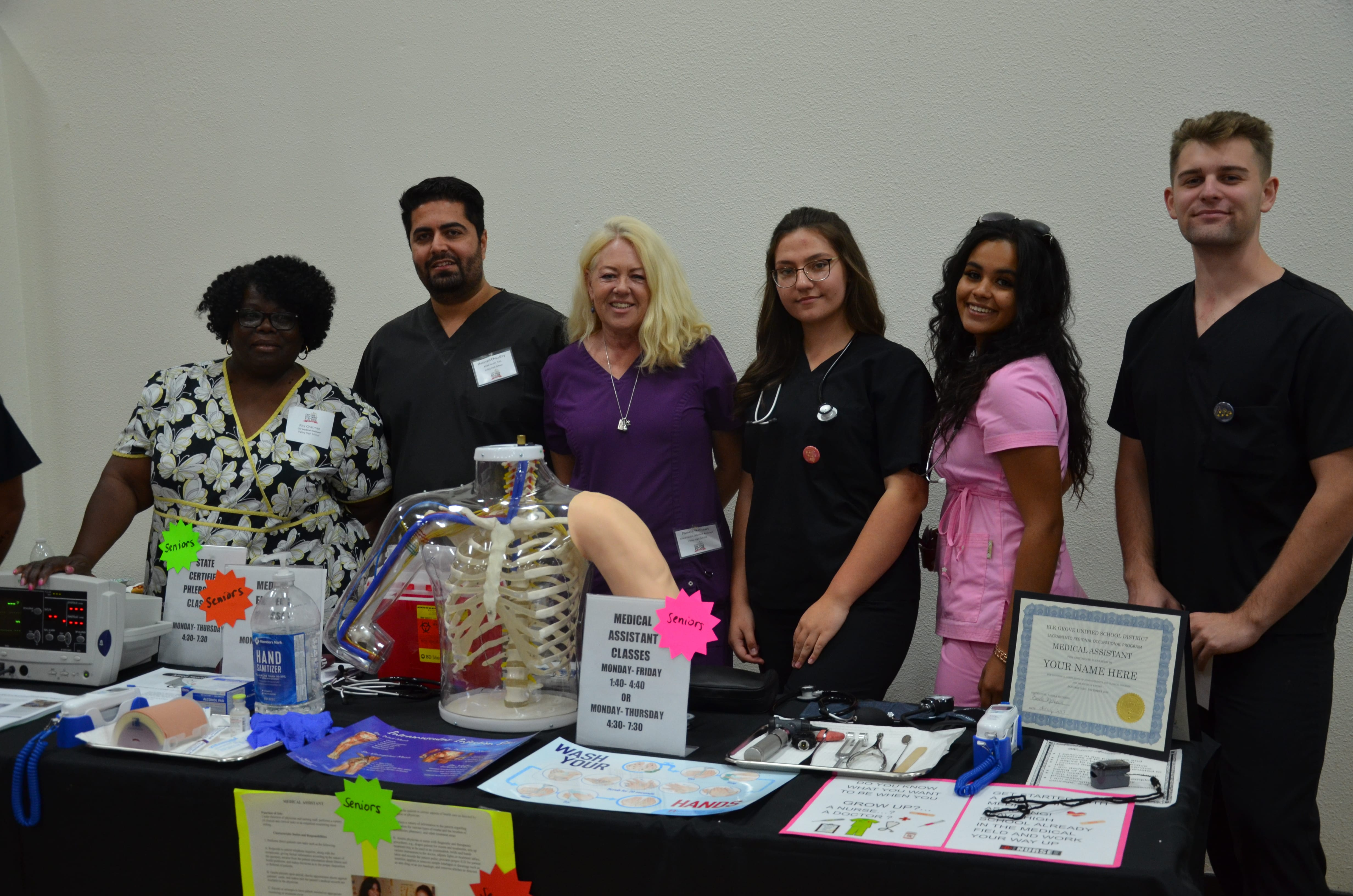 Allied Health and CTE Medical Assistant teachers are excited to showcase their programs at Map Your Future!