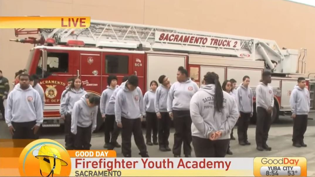 Florin High and Valley High School Academy/Pathway Students Participate in Sacramento Fire Youth Academy