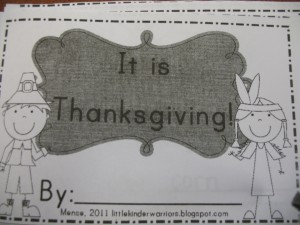 It Is Thanksgiving Book