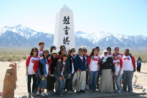 2011 Manz group with educators in front of monument - Steve K