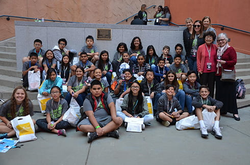 EGUSD students attending Stand Up Speak Out Against Bullying event at CA Museum - Unity Center