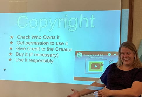 Las Flores Staff Training on Copyright