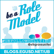 #UnfollowBullying Be a Role Model Badge - Website URL