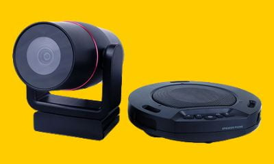 picture showing video camera and wireless speaker and microphone