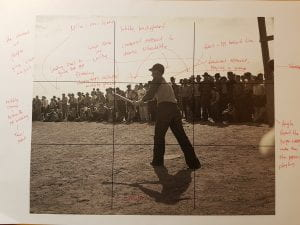 My annotation of a picture taken in Shafter migrant camp, California, by Dorothea Lange
