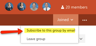 O365 Groups Subscribe