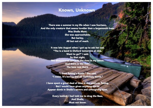 the bass the river and sheila mants found peotry karen s blog found poetry the river the bass and sheila mant