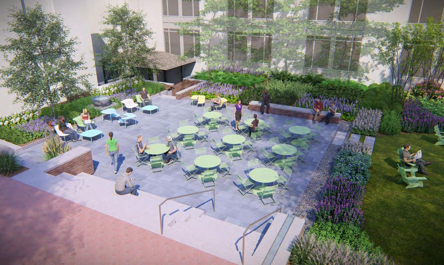 Faculty collaboration at William & Mary led to the plans for a new outdoor study space. William & Mary