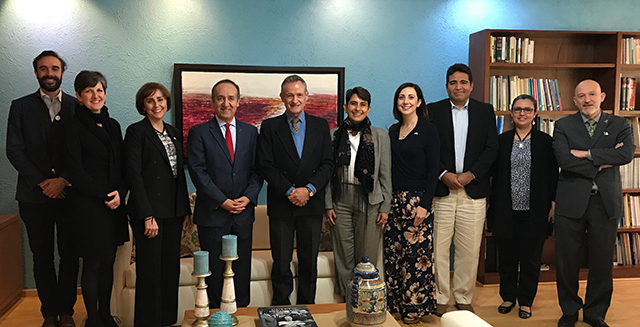 IUPUI delegation visits with colleagues at the National Institute of Public Health in Mexico City, January 18, 2018