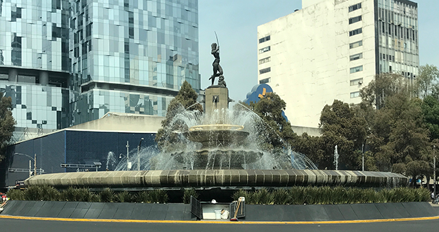 Fountain of Diana the Huntress on Reforma Avenue, Mexico City, Mexico, January 18, 2018