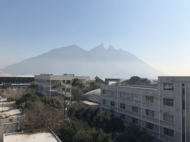 A view of Cerro de la Silla, a mountain and natural monument in Monterrey, Mexico, January 19, 2018