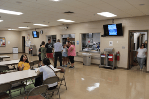 The ICGT's kitchen and multipurpose area serves as a gathering space for the larger Toledo community, bringing together Muslims and non-Muslims for food and conversation.