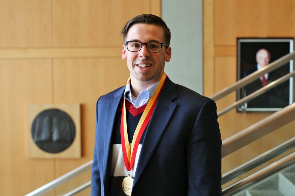 Elliot Dunbar was awarded the William M. Plater Civic Engagement Medallion.
