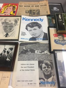 Foley's collection of political memorabilia during the Kennedy campaign