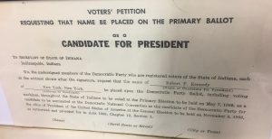 The petition to add Robert F. Kennedy's name to the ballot in Indiana