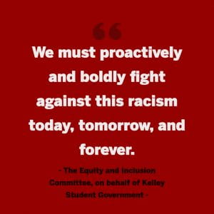 we must proactively and boldly fight against this racism today, tomorrow, and forever.